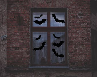 halloween decorations halloween window decorations halloween outdoor decor bat decal for windows - Halloween Window Decor