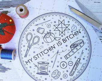 Stitchin' - Print