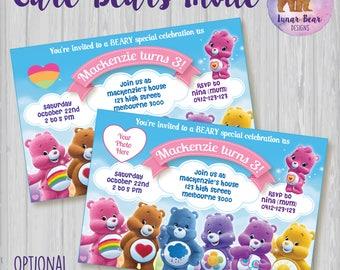 Care Bears Invitation, Care Bears Photo Invitation, Care Bears Invite, Care Bears Party, Care Bears Birthday Party, New Care Bears Party
