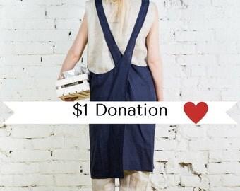 Cross back apron,linen pinafore apron, japanese linen apron,japanese apron,linen pinafore,long linen apron, gift pinafore,apron dress/LA0003