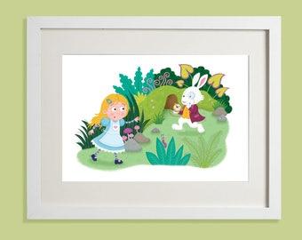 Follow The Rabbit (Unframed Print)