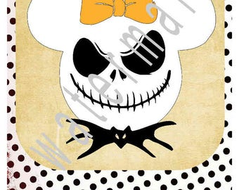 Jack Skellington SVG - Disney vacation shirts - Disney svg silhouette cameo cricut - Disney Mickey ears JPEG t shirt transfer  Halloween svg