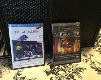 Fireplace DVD and Aquarium DVD