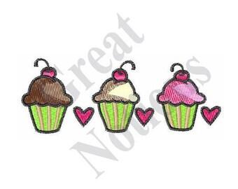 Cupcakes - Machine Embroidery Design