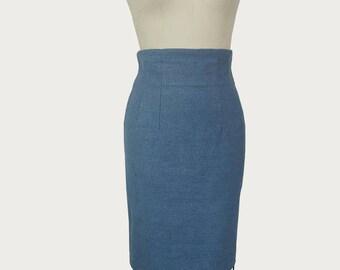 1990s High waisted skirt