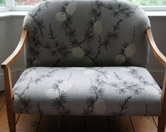 A gorgeous unusual 1930's loveseat