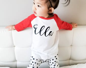 Personalized Name Raglan, Personalized Name Shirt, Custom Shirt, Baby Raglan, Baby Girl Shirt, Baby Boy Shirt, Baby Shirts, Baby Clothes