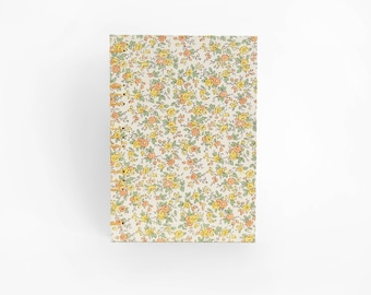 Garden Floral Hardcover Coptic Notebook - 4x6