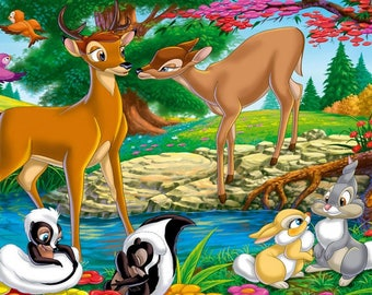 Bambi Cross stitch pattern-Printable Disney Bambi-Digital Bambi Pattern-PDF File