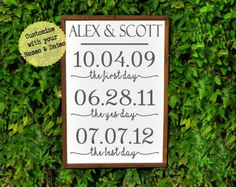 Groom to Bride Gift, Wedding Decor, Anniversary Gifts for Wife Wedding Gift, Personalized Wedding Sign, Wedding Signage, Gift for Bride
