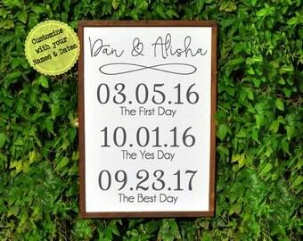 Wedding Gift, Wedding Gifts, Wedding Date Sign, Newlywed Gift, Engagement Gift, Rustic Wedding Gift, Wedding Date Gift, Bride Gift for Her