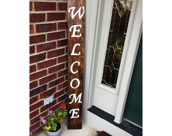 Valentines Day Gift, Welcome Sign, Front Porch Sign, Welcome Wood Sign, Patio Decor, Welcome Decor, Outdoor Sign, Home Wood Sign