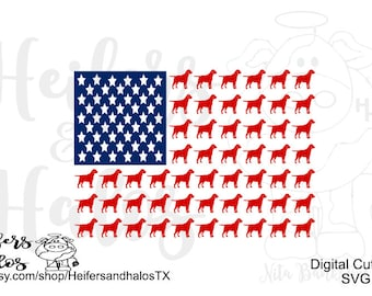 Labrador Flag and lab flag with paws svg, png, pdf, eps cut file.  Lab flag, dog, 4th of July, t-shirts, decals, yeti cups, cricut