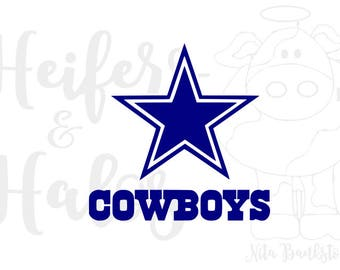 Dallas Cowboys logo digital cut files for t-shirts, decals, yeti cups use with cricut and silhouette, svg, pdf, png, eps, dxf, studio3