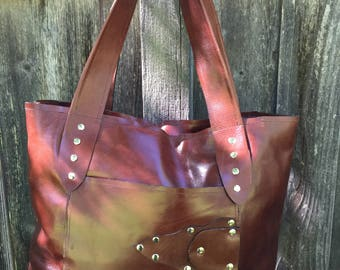"Leather handbag*Large leather handbag* leather purse*handbags*purse*tote* ""Avery"""