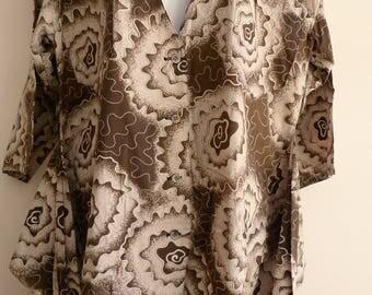 Hiroko Koshino cotton button through cotton top with 4 sleeves