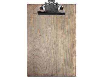 "Weathered Wood Clipboard 6"" x 9"" Photo Display"