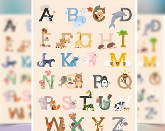 Animal Alphabet poster / A4
