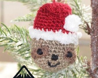 Santa Sloth Christmas Tree Ornament