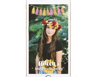 Custom Snapchat Geofilter - Sunflower - Bachelorette - Bridal Shower