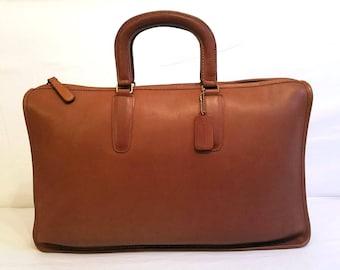 HUGE! Coach Bonnie Cashin Briefcase British Tan Leather Bag