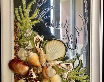 Seashell Art on Glass