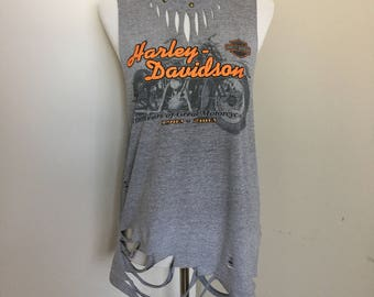 Harley Davidson Studded Distressed Tee