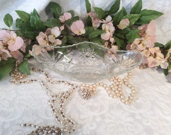 Relish Tray, Clear, Cut Glass by Anchor Hocking, EAPC