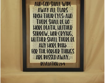 Revelation 21 4, Revelation 21, Revelation Sign, Revelation, Verse Signs, Verse Wall Art, Verse Art, Verse Wall Decor, Verse Wall Signs, Art