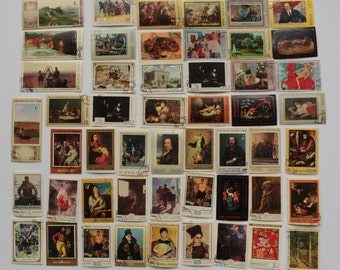 Set of 51 pcs Postal, Postage Stamp, Collecting, Philately # 9