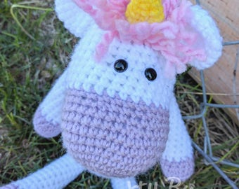 Magical Unicorn Stuffed Crochet Doll