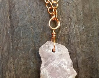 Rose Quartz and Copper necklace