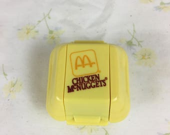 Vintage McDonald's Chicken McNuggets Transforming Happy Meal Toy / food changeables Happy Meal toys / dated 1987