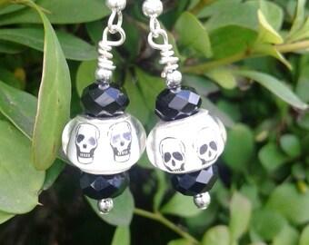 Spooky Skull Earrings
