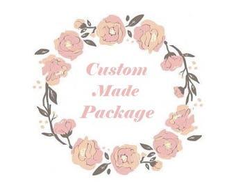 Custom Made Event Package, Wedding flower Crown, Flower Crown, Bridal flower crown, Baby Shower crown, flower headpiece, pink flower crown