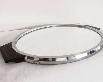 Large mirror tray - french mirrored tray drink