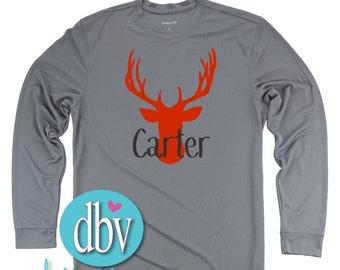 Boy's Deer Head Personalized Shirt