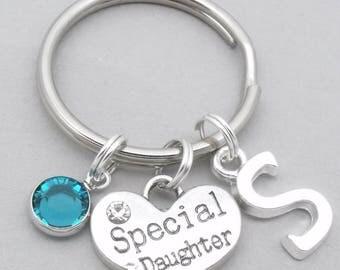 Special daughter monogram keyring | special daughter keychain | personalised daughter keyring | daughter gift