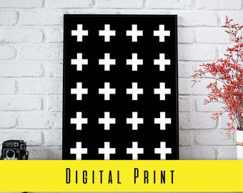 Digital Print CROSSES MINIMALIST GEOMETRIC Print Digital Download Wall Art Prints Photography Prints Home Decor Prints