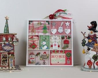 Home,Framed Wall Art,Christmas Decoration,Christmas Sign,Christmas Wood Signs,Christmas Wall Decor,Wall Hanging,Christmas Gift,Holiday Decor