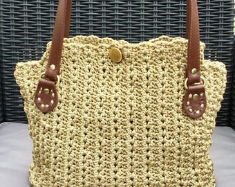 DrawString handbag Italian swan