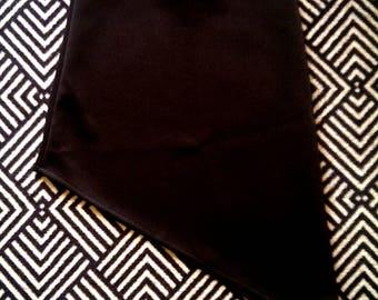 Black asymmetric skirt small punk goth - new