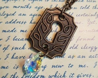 The Locked Tower - Short Necklace with Swarovski Crystal