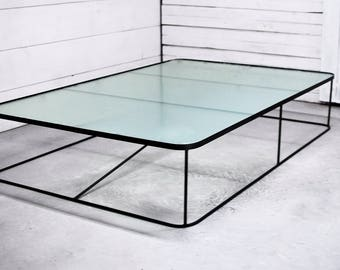 Square Glass Coffee Table, Coffee Table, Coffee Table Glass, Oval Glass  Table,