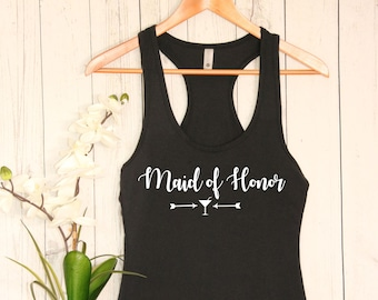 Maid of Honor Tank Top - Bride Gift - Engagement Gift