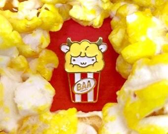 Popcorn Sheep Enamel Pin