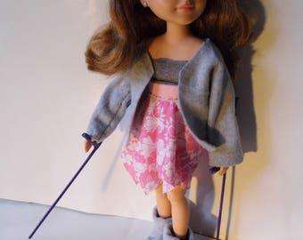 Lindsay | Arm Crutches | Doll with Crutches | Posable Doll | Toy Like Me