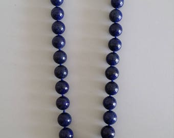 Lapis Lazuli Necklace with Pendant - Stone of Wisdom and Truth