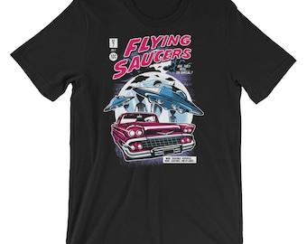 Comic Book Series: Flying Saucers Short-Sleeve Unisex T-Shirt