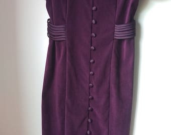 Chad's Place Purple Velvet Dress
